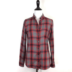 J Crew The Perfect Shirt Flannel Button up red